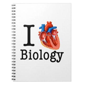 I Love Biology Notebook