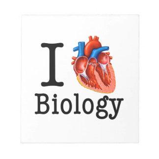 I love Biology Notepad