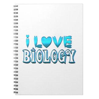 I Love Biology Spiral Notebook