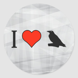 I Love Birds Of Prey Classic Round Sticker