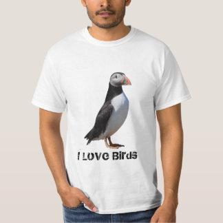 I Love Birds Puffin Shirt