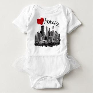 I love Bismarck Baby Bodysuit
