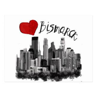 I love Bismarck Postcard