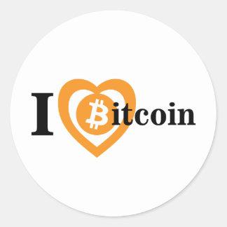 I love bitcoin sticker