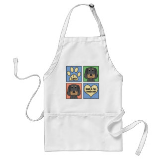 I Love Black and Tan Coonhounds Standard Apron