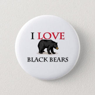 I Love Black Bears 2 Inch Round Button