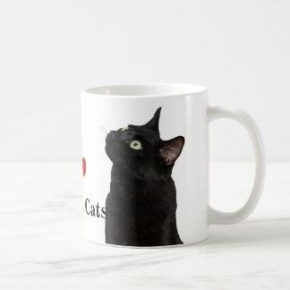 I Love Black Cats Mug