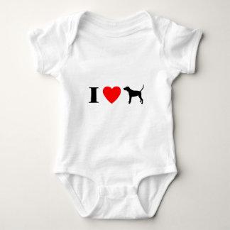 I Love Black & Tan Coonhounds T-shirts
