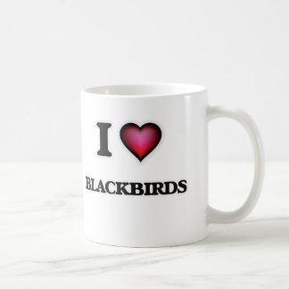 I Love Blackbirds Coffee Mug