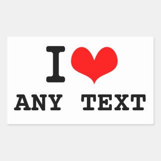I Love blah blah(5~8 letters)