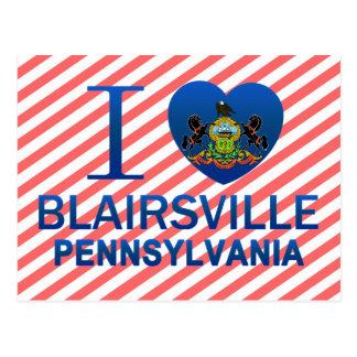 I Love Blairsville, PA Postcard