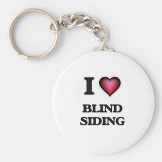 I Love Blind Siding Keychain
