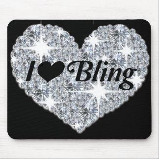 'I love bling' mouse mat
