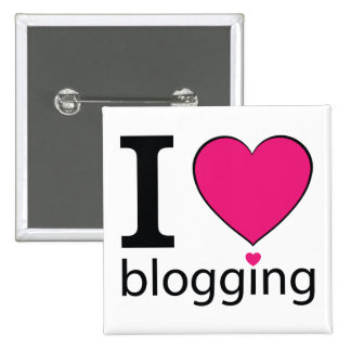 I Love Blogging Pinback Buttons