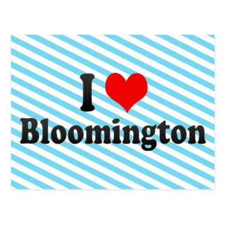 I Love Bloomington, United States Postcard