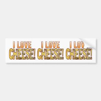 I Love Blue Cheese Bumper Sticker