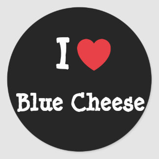 I love Blue Cheese heart T-Shirt Stickers