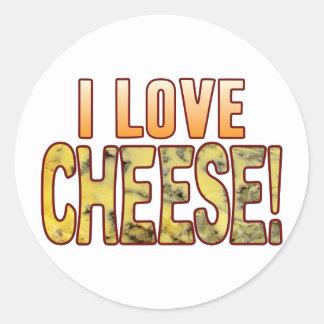 I Love Blue Cheese Round Sticker