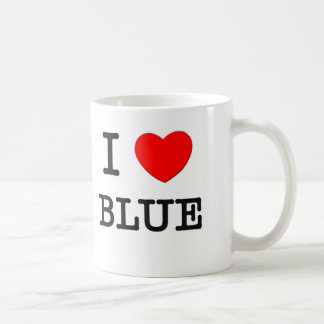 I Love Blue Coffee Mug