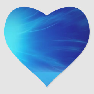 I Love Blue Heart Sticker