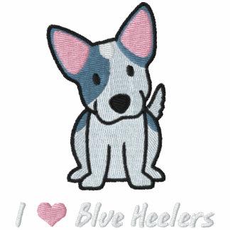 I Love Blue Heelers Embroidered Hooded Sweatshirt