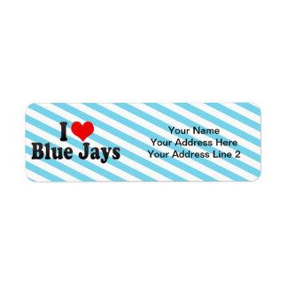 I Love Blue Jays Custom Return Address Labels