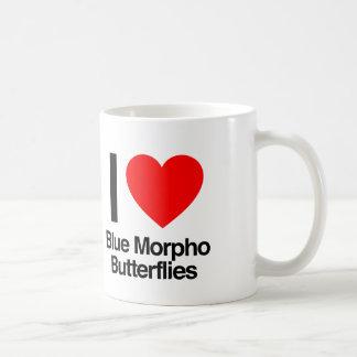 i love blue morpho butterflies classic white coffee mug
