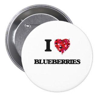 I Love Blueberries food design 3 Inch Round Button