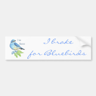 I love Bluebirds, Bird Collection Bumper Sticker
