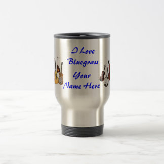 I LOVE BLUEGRASS-MUG TRAVEL MUG