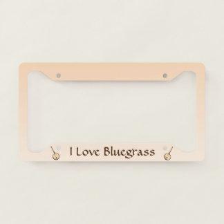 I Love Bluegrass Music License Plate Frame