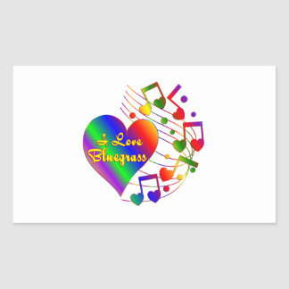 I Love Bluegrass Sticker