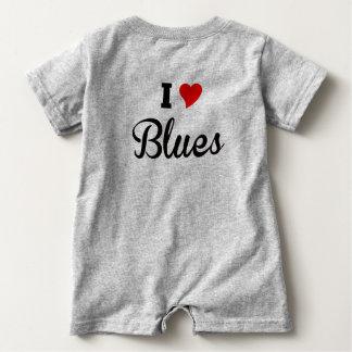 I Love Blues Baby Romper