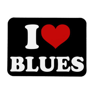 I Love Blues Magnet