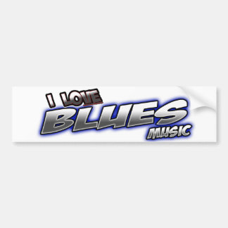 I Love BLUES music Bumper Stickers