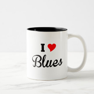 I Love Blues Polar Two-Tone Coffee Mug