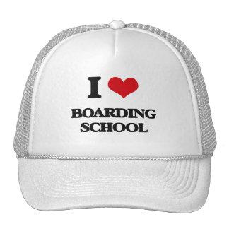I Love Boarding School Hats