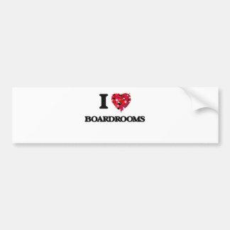 I Love Boardrooms Bumper Sticker