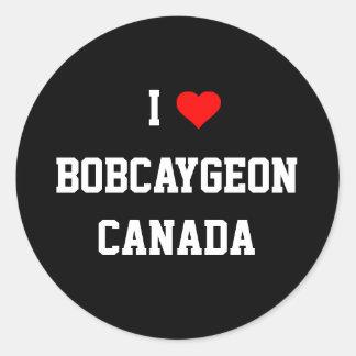 I Love Bobcaygeon, Canada Classic Round Sticker