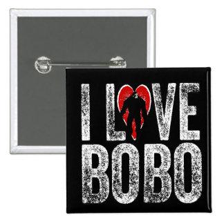 I Love Bobo 2 Inch Square Button