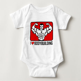 I Love Bodybuilding Baby Bodysuit
