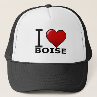 I LOVE BOISE,ID - IDAHO TRUCKER HAT