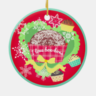 I love bon bons chocolates Christmas ornament