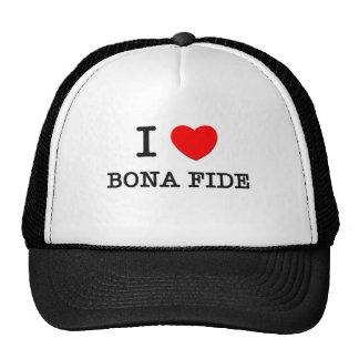 I Love Bona Fide Mesh Hats