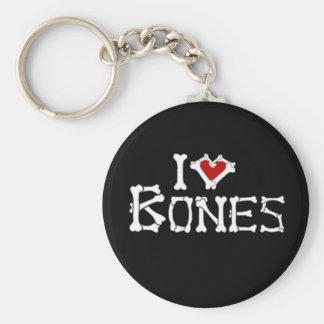 I Love Bones Keychain