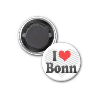 I Love Bonn, Germany 1 Inch Round Magnet