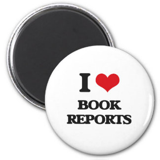 I Love Book Reports Magnets