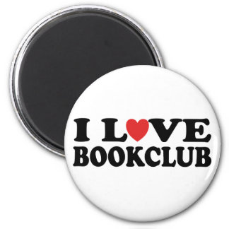 I Love Bookclub 2 Inch Round Magnet
