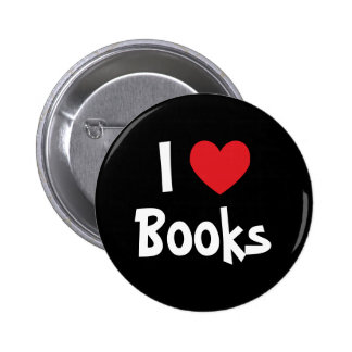 I Love Books 2 Inch Round Button