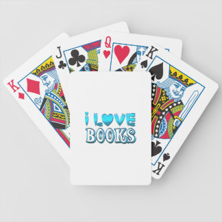 I Love Books Bicycle Playing Cards